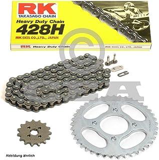 Kettensatz geeignet für Kawasaki KMX 125 B 91 03 Kette RK 428 H 126 offen 16/48