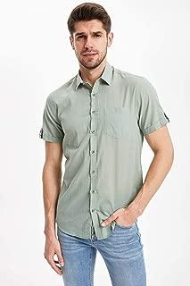 DeFacto Cepli Kısa Kollu Slim Fit Gömlek