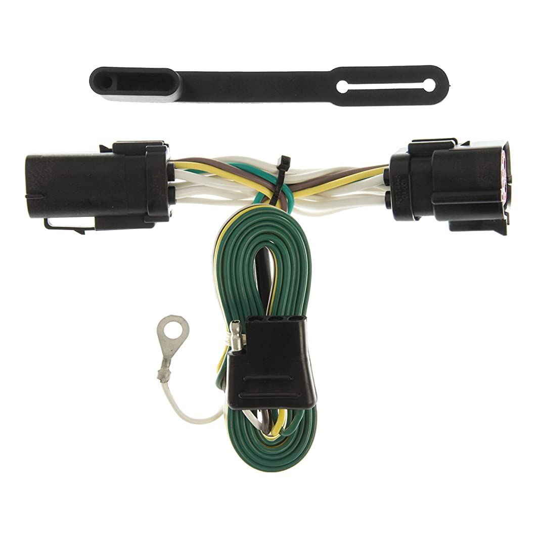 CURT 55256 Vehicle-Side Custom 4-Pin Trailer Wiring Harness for Select Ford F-150, F-250 LD