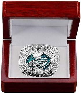 HZIH CopiarNuevo Anillo de Philadelphia Eagles Anillo Super Bowl LII World World Foles and Wentz Campeonato Réplica de Ani...