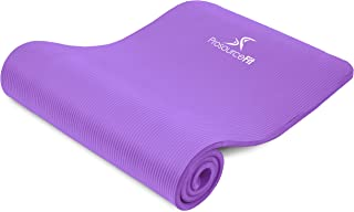 """ProsourceFit Extra Thick Yoga and Pilates Mat ½"""" (13mm) or 1"""" (25mm), 71-inch Long High Density Exercise Mat with Comfort Foam and Carrying Strap"""