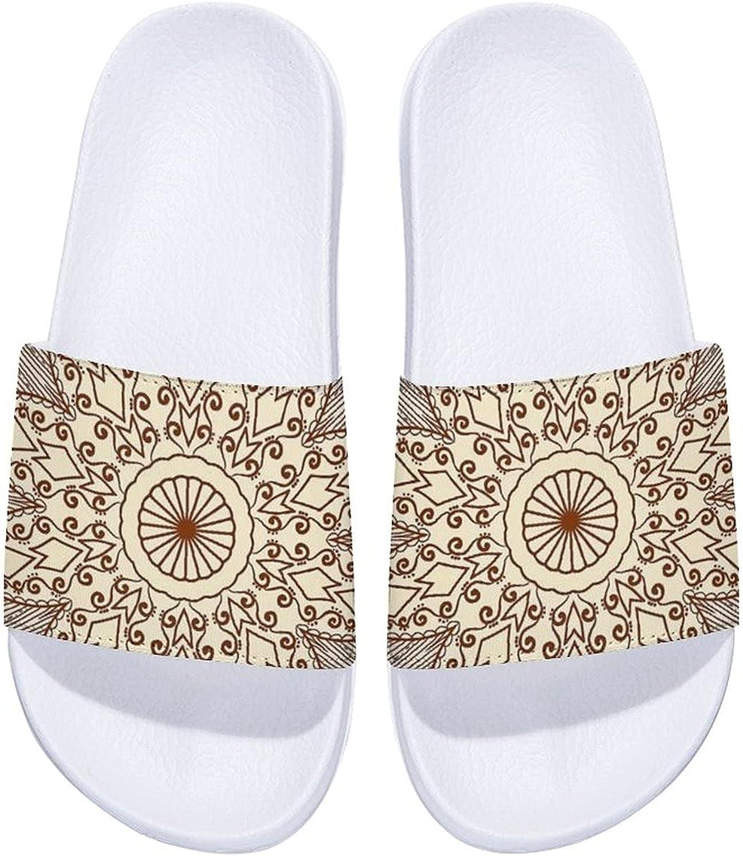 Mandala Yard Garden Flags Men's Slide NEW before selling Sandal Max 81% OFF Comfort and Women's