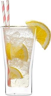 perfeclan 2Stk Geschenk zur Hochzeit und Valentistag Doppelwandige Sektgl/äser Champagnergl/äser Sektglas Sektkelche Thermogl/äser