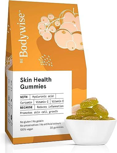 Be Bodywise Skin Gummies Delicious Gummies with Hyaluronic Acid Vitamin C Vitamin E Curcumin 30 Gummies