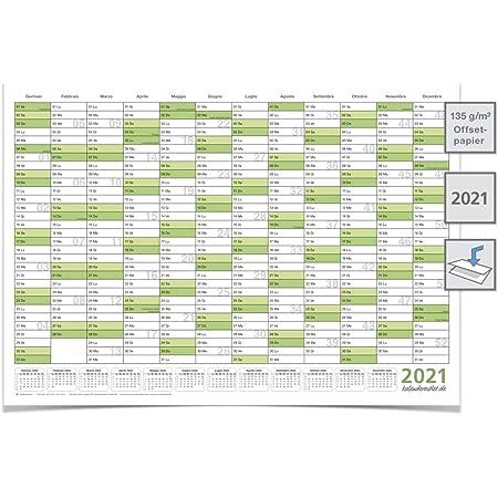 G-wukeer 2020 Calendario Planner Annuale Calendario da Parete in Poster Panoramica Annuale Panoramica delle Vacanze Giorni Lavorativi Contano 51,5 73 Cm There