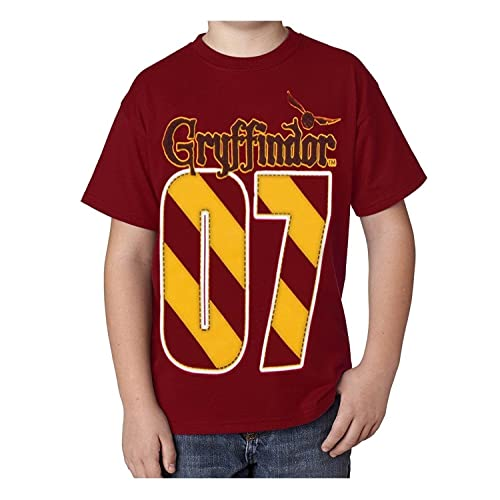 b5dc9dd4 Harry Potter Youth Unisex T-Shirt Gryffindor Quidditch MVP, Red