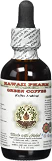 Green Coffee Alcohol-FREE Liquid Extract, Green Coffee (Coffea Arabica) Dried Bean Glycerite Hawaii Pharm Natural Herbal S...