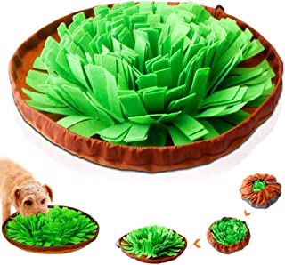 AUBBC Upgraded Snuffle Mat, Dog Puzzle Toys Interactive Feeding Mat with Dog Encourage Natural Foraging Skills and Nose Work Training for Dogs Bowl Dog Treat Dispenser Stress Relief- Machine Washable
