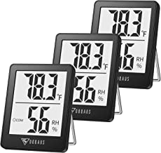DOQAUS Indoor Thermometer [3 Pack], Mini Digital Hygrometer Room Thermometer, Humidity Meters, Accurate Temperature Humidi...