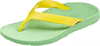 ARCHLINE Orthotic Thongs Arch Support Shoes Medical Footwear Flip Flops New Green/Gold
