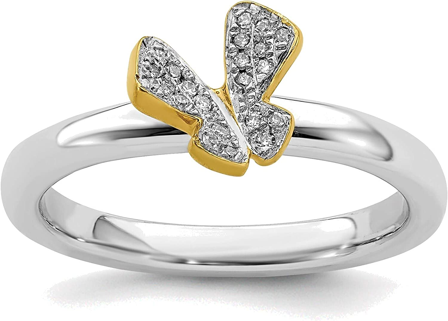 Bonyak New sales Jewelry Solid Sterling Silver Gold- Expressions Stackable Tucson Mall