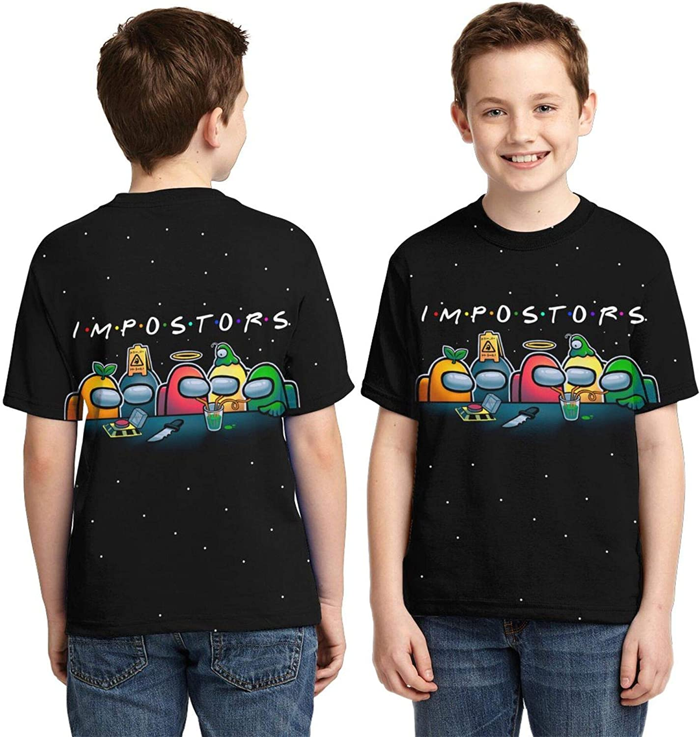 Kids' Novelty Shirt, Multiple Color Tshirt for Boys and Girls,Double-Sided 3D Printing