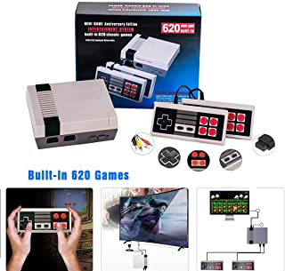 THINKER Retro Game Console , Built in 620 Classic Mini Video Game Console , Handheld Family TV Game Console for Children / Adults AV Output , Bring You Happy Childhood Memories