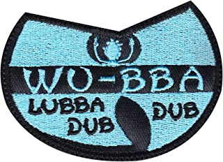 Rick And Morty Wubba Lubba Dub Dub Wu Tang Patch