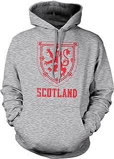 Hoodteez Scotland Coat of Arms, Crown of Scotland Hooded Sweatshirt