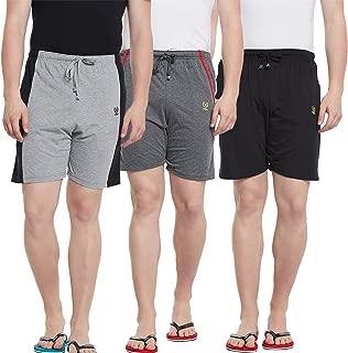 VIMAL JONNEY Multicolor Cotton Shorts for Men(Pack of 3) (N2BL_N5AN_N7ML_003-P)