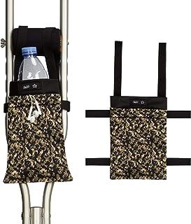 Crutch Bag Lightweight Soft Crutch Storage Pouch Crutch Accessories Bag for Underarm Crutches Universal Uses Unisex