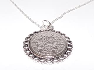 Fine Pendant 1928 Lucky Sixpence 90th Birthday Plus a Sterling Silver 18in Chain