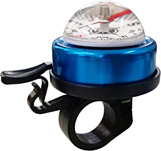 TRENDBOX Bicycle Accessories Bike Bell Safety Alarm Compass - Blue