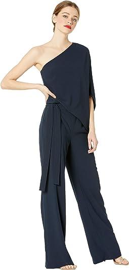 Asymmetrical Crepe Jumpsuit
