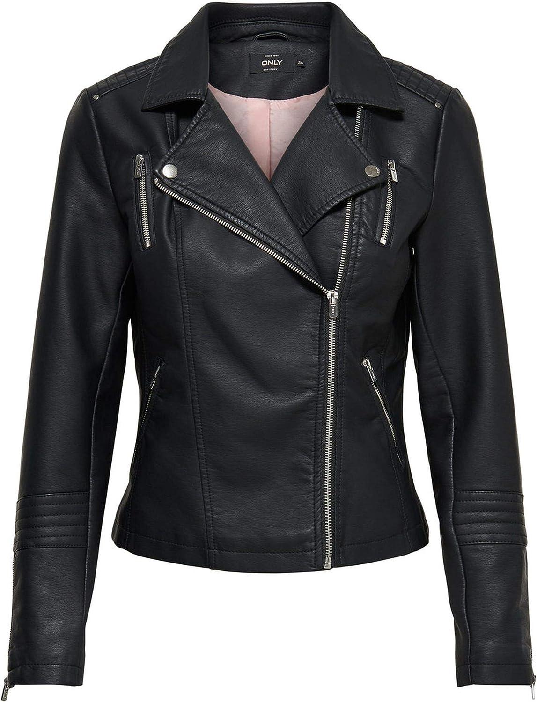 ONLY Women's 15153079BLACK Black Viscose Jacket