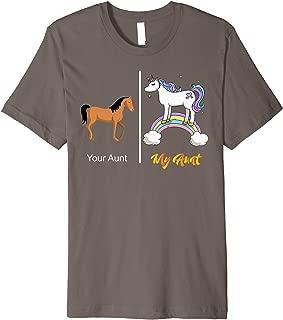 Your Aunt My Aunt Unicorn T-Shirt   Funny Rainbow Tee