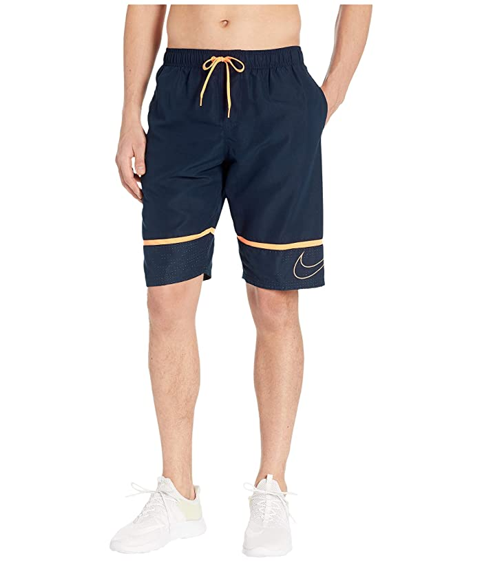Nike 11 Perforated Swoosh Breaker Volley Shorts (Obsidian) Men