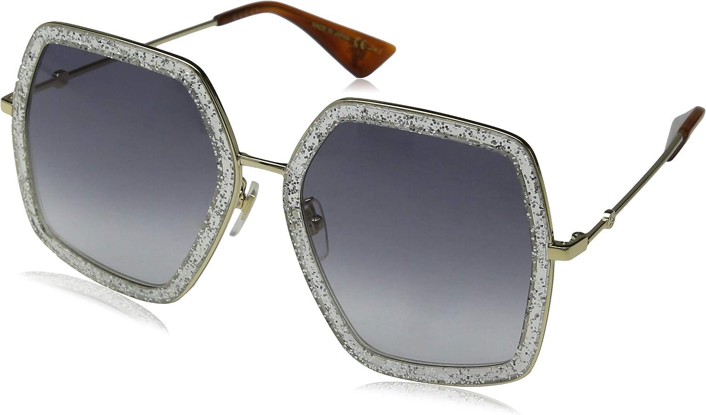 Ranking TOP14 Gucci Design Sunglasses New color GG0016SA 002 Frame Black Silver With len