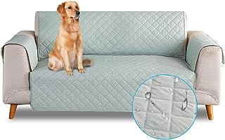 PETCUTE Funda de sofá 3 plazas Cubre Sofas Impermeable Protector de sofá Antideslizante Acolchado Sofas Fundas para Perros Vert
