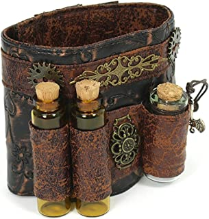 Steampunk Accessories Faux Leather Phial Wristband Costumes For Women Bracelet