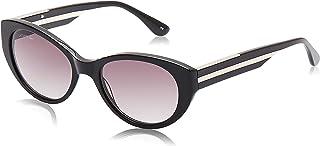 نظارات شمسية لا كولور بلوك بتصميم بيضاوي للنساء من لاكوست، لون اسود
