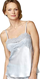 Julianna Rae 100% Silk Camisole Top, Stretch Lace Overlay, Sweetheart Neckline, Lingerie, Beautiful Gift Packaging