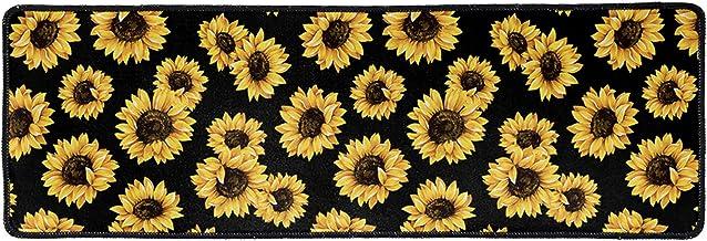 Belidome Sunflower Design Entrance Door Mat Rubber Back Non Slip Washable for Kitchen Yard