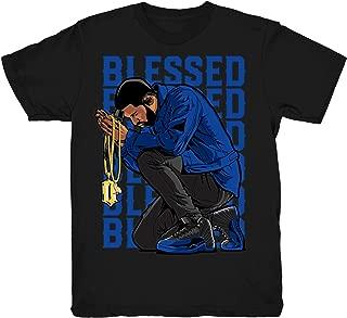 Game Royal 12 Drake Blessed Shirt to Match Jordan 12 Game Royal Sneakers Black t-Shirts