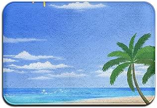 Dick Sidney Beach Scenery Absorbent 40x60cm Entry Way Outdoor Door Mat With Non Slip Waterproof Thin Low Profile Door Mats Stylish Geometric Mat For Indoor Outdoor Kitchen Hallway Entry