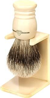 Edwin Jagger 9ej257sds Handmade Imitation Ivory Shaving Brush with Drip Stand, Ivory, Small