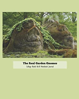 The Real Garden Gnomes College Ruled 8x10 Notebook Journal