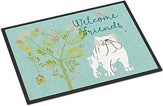 Caroline's Treasures Airedale Terrier Snowman Christmas Door Mat Multicolor, Welcome, 18 x 27