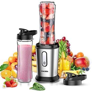 AmazonBasics Mix & Go - Batidora de vaso para smoothie (300 W, 2 ...