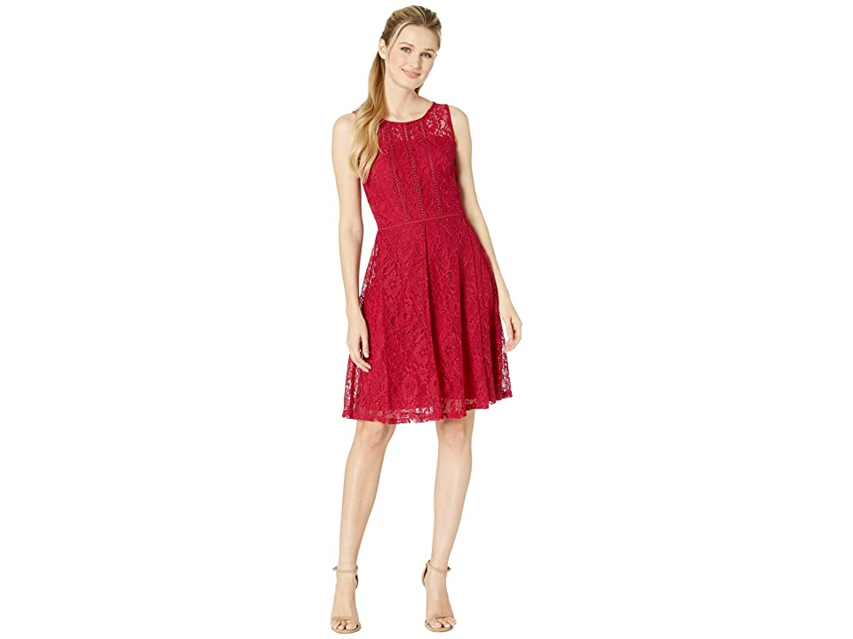 Taylor Sleeveless Lace Cocktail Dress (Orchid) Women