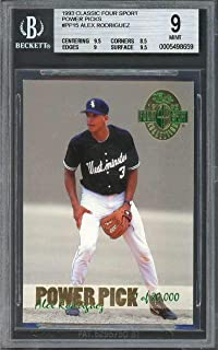 1993 classic four sport pp #pp15 ALEX RODRIGUEZ rookie BGS 9 (9.5 8.5 9 9.5) Graded Card
