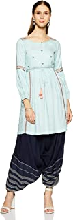W for Woman Women's Rayon anarkali Salwar Suit Set