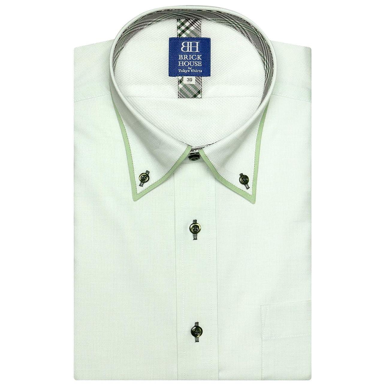 警察変化かもめブリックハウス ワイシャツ 半袖 形態安定 メッシュインナー ボットーニBD 新体型 メンズ BM019201AB45V3M-74