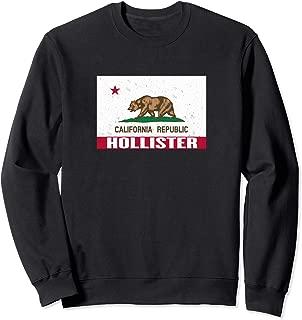 Hollister, California - Distressed CA Republic Flag Sweatshirt