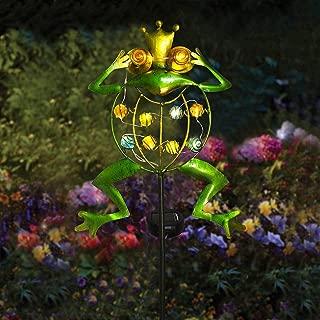 Garden Solar Lights Outdoor,Solar Powered Stake Lights - Metal Frog LED Decorative Garden Lights for Walkway,Pathway,Yard,Lawn (Green)