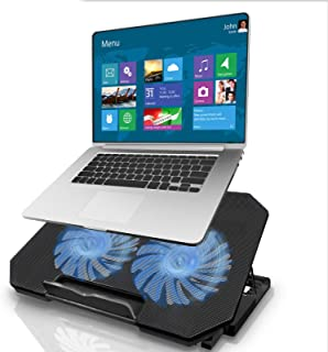 Laptop Cooling Pad, Gaming Laptop Cooler Stand with 2 Quiet Cooling Big Fans, Laptop Stand 5 Stand Height Adjustable, Dual...