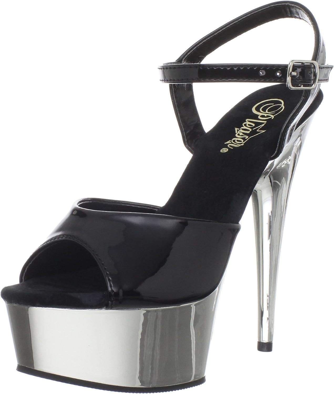 Pleaser Woherrar Deljus Deljus Deljus -609 Platform Sandal  bästa priser och färskaste stilar