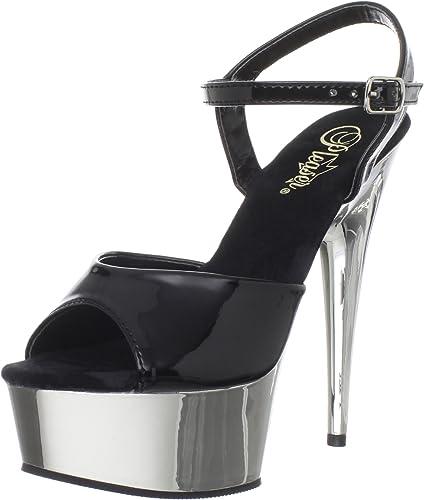 Pleaser Delight-609, Sandales Bout Bout Ouvert Femme  marques de créateurs bon marché