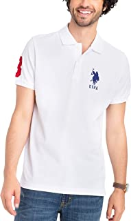 U.S. Polo Assn. Mens Classic Big Logo Solid Pique Polo...