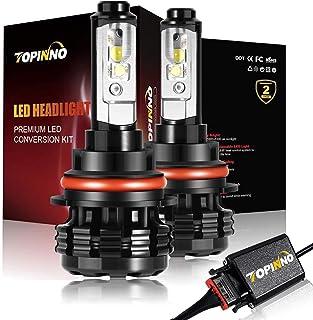 TOPINNO LED Headlight Bulbs Conversion Kit, Extremely Bright CREE XHP50 10000LM, 9007-6000K Xenon White Headlight Assembly
